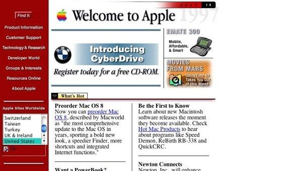 Hiilite web design: example of bad design