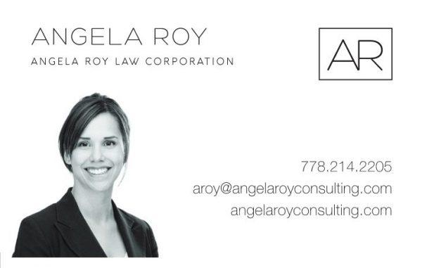 Angela Roy Branding Consultation Marketing Graphic Design Business Cards Back