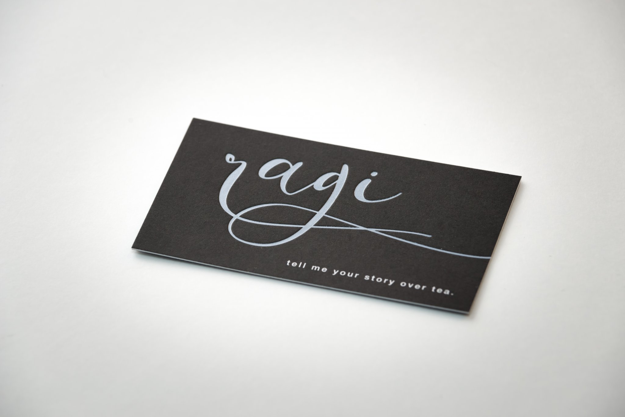 A creative business card created with unique printing techniques