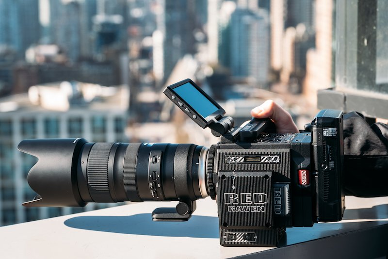 The Red Raven video camera captured on a rooftop in Vancouver, BC