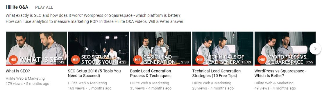 make a youtube channel seo digital marketing questions and answers
