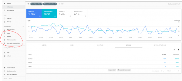 how to use the new google search console enhancements 2019 - 2