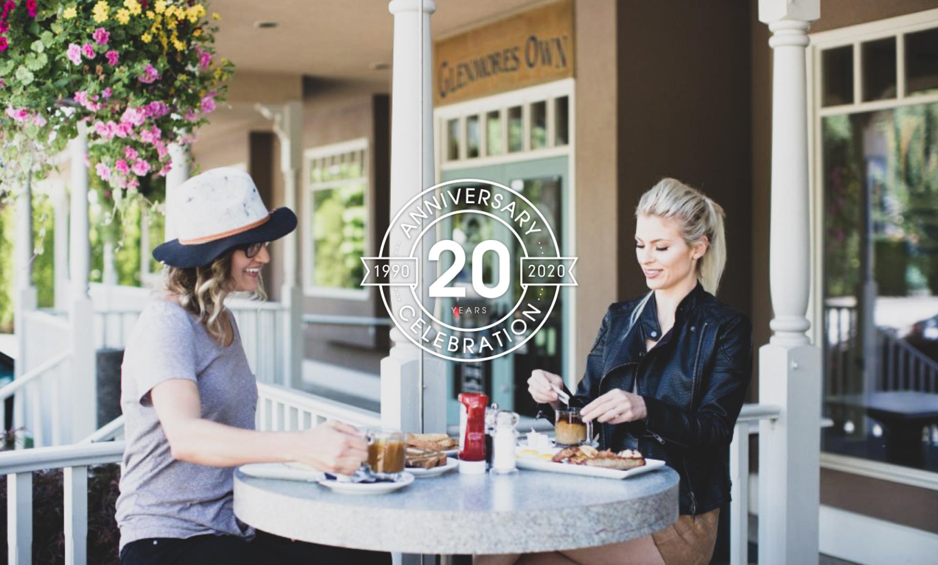 restaurant marketing brandts creek 20th anniversary