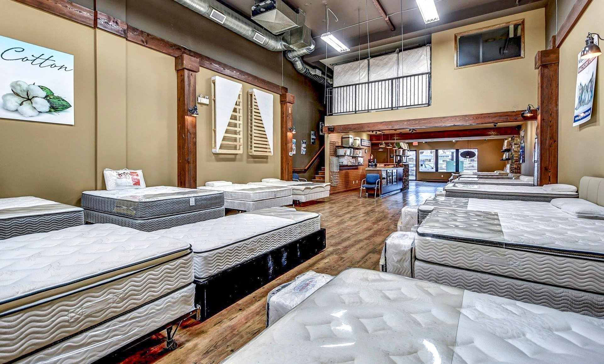 mattress retail marketing showroom image