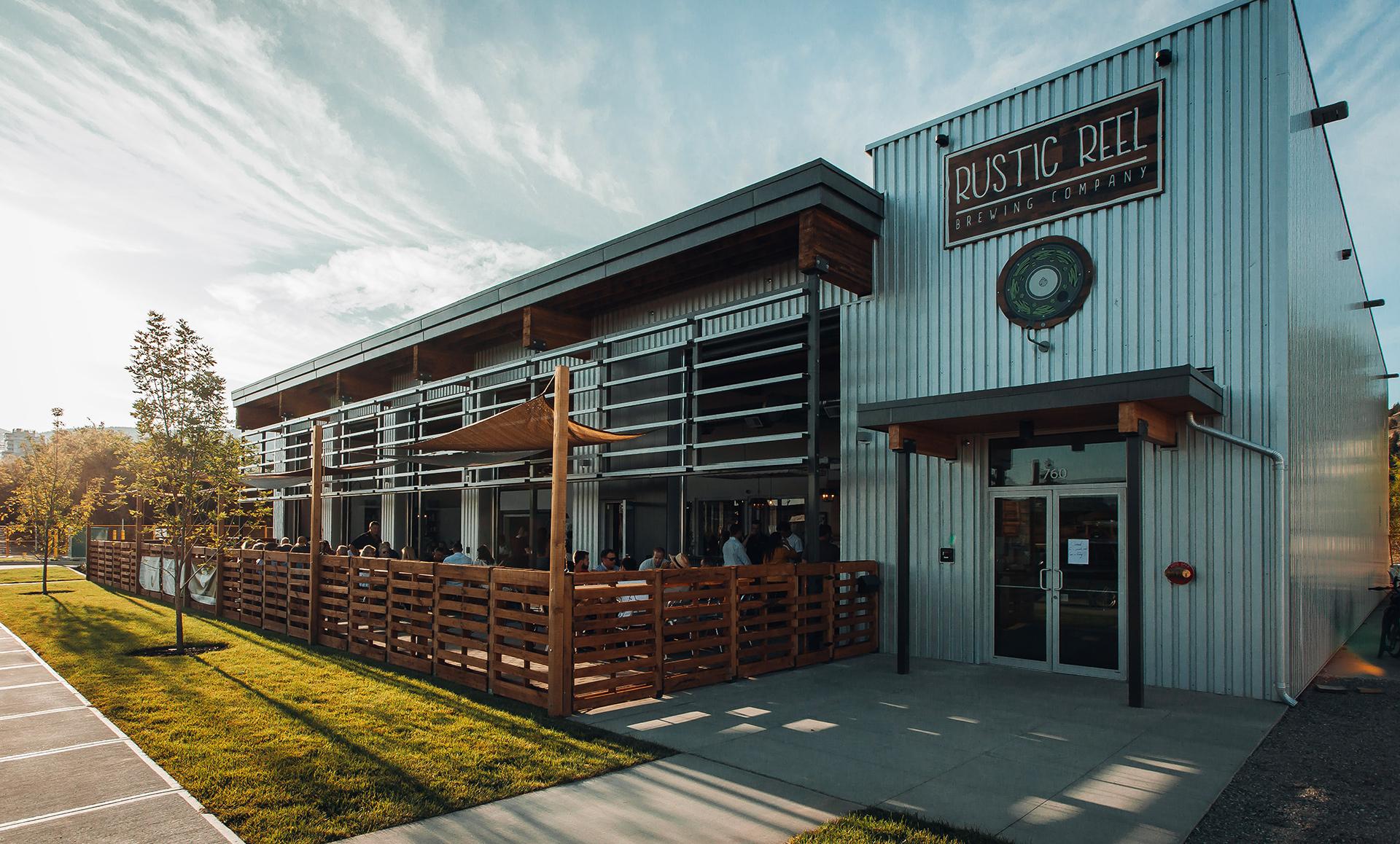 kelowna brewery marketing rustic reel exterior shot