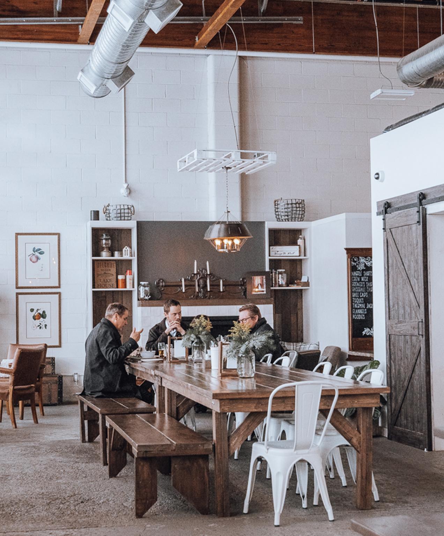 kelowna brewery marketing rustic reel interior