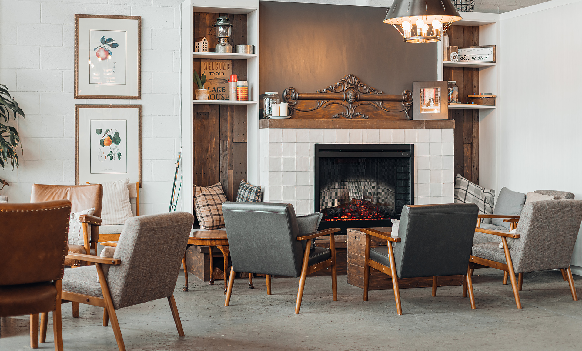 kelowna brewery marketing interior design rustic reel