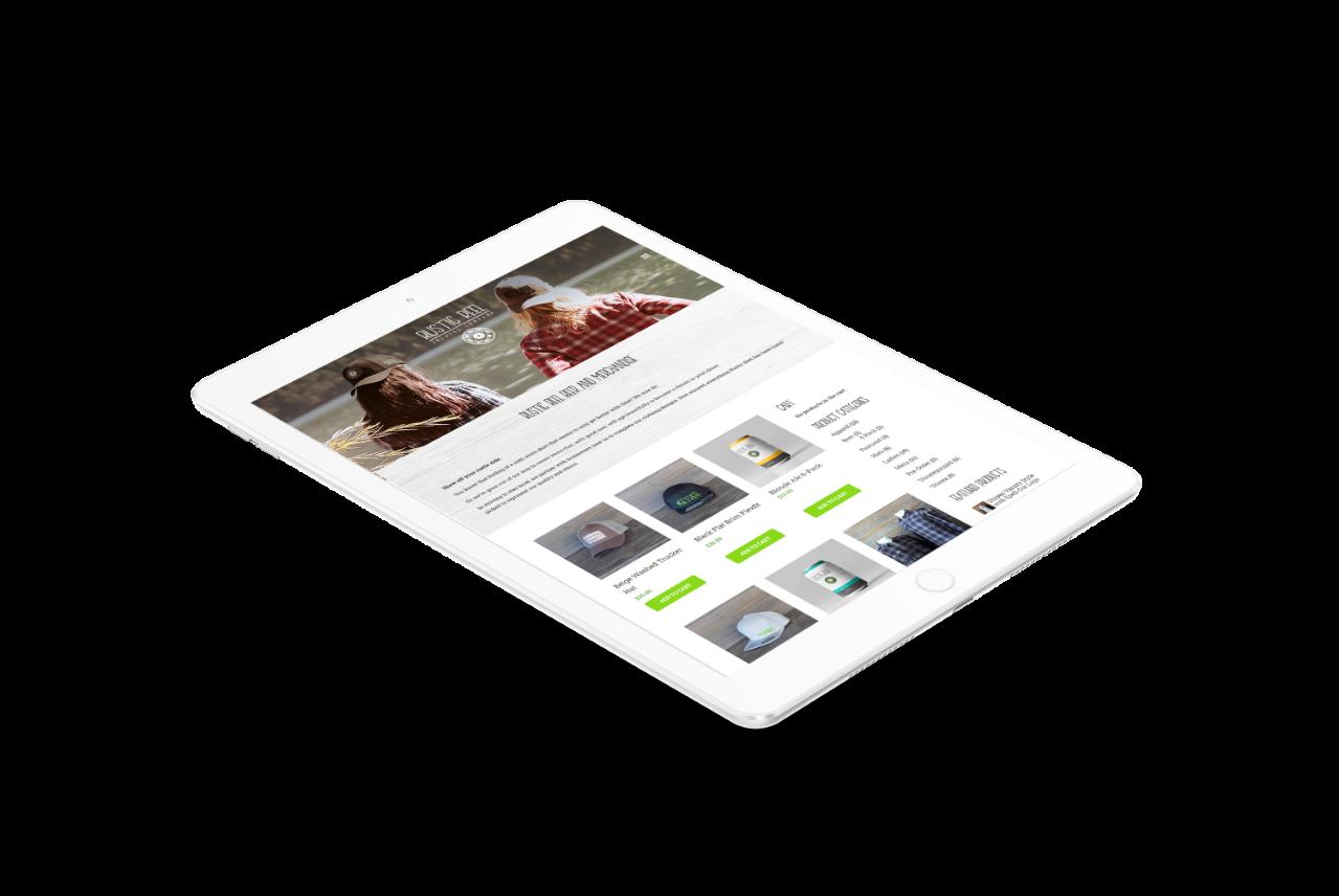 kelowna brewery marketing ecommerce online shop on tablet