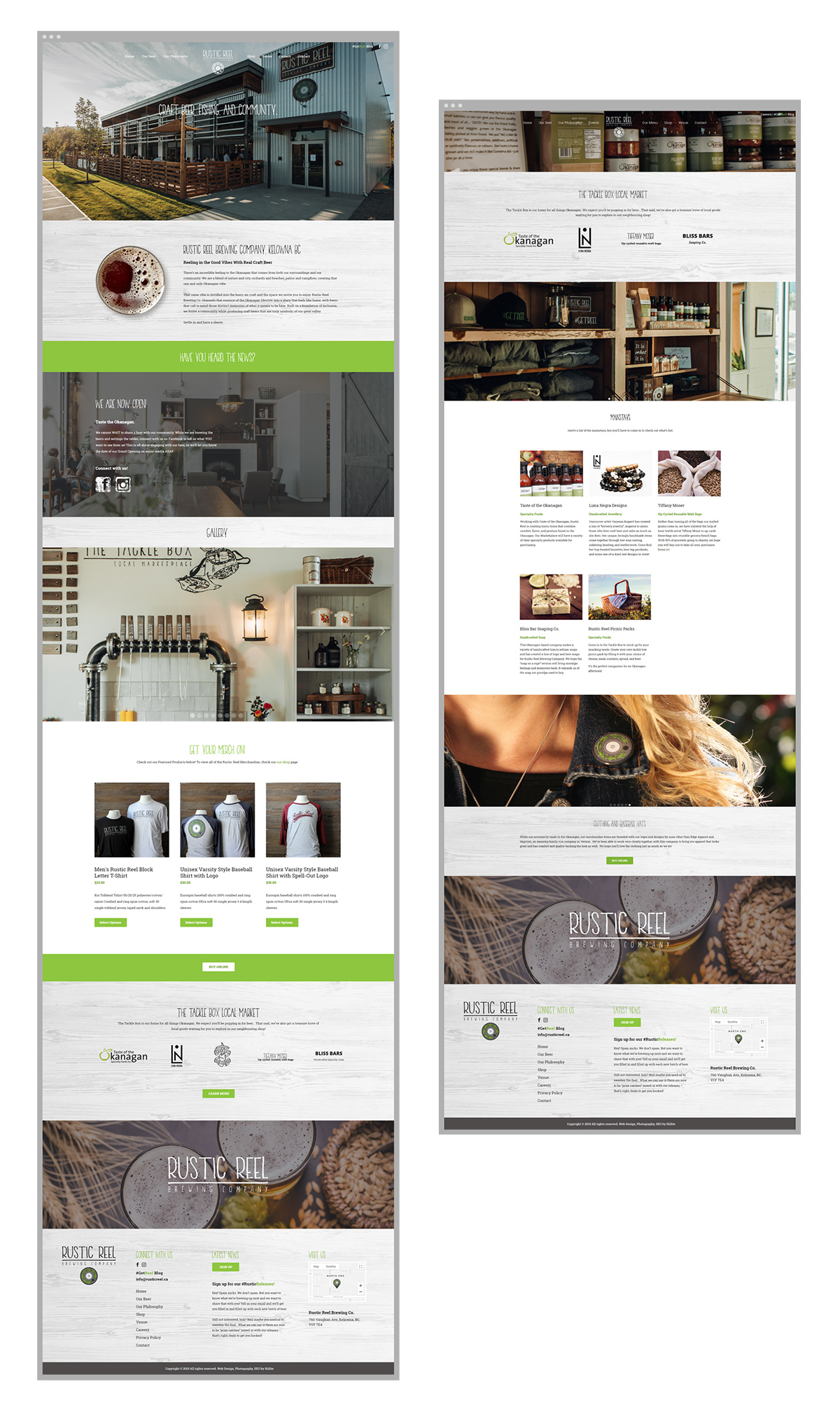 kelowna brewery marketing design of pages