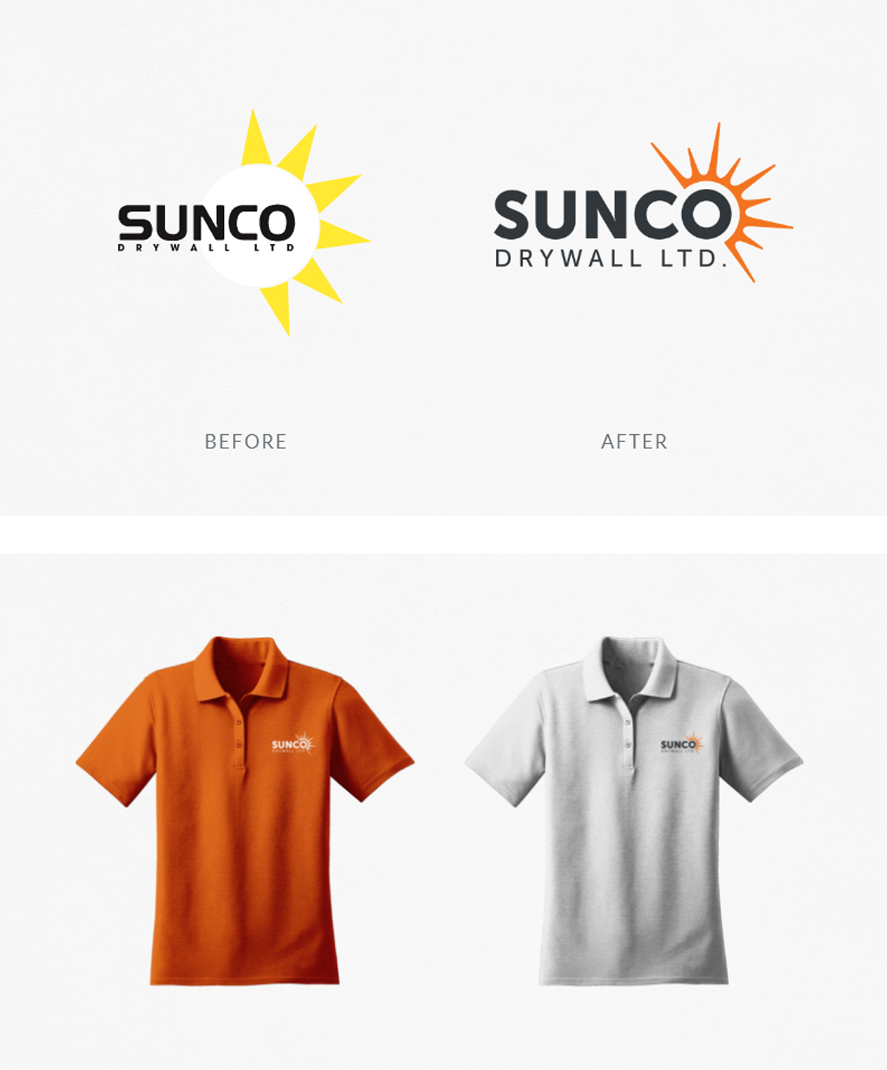 branding for construction trade company sunco branding