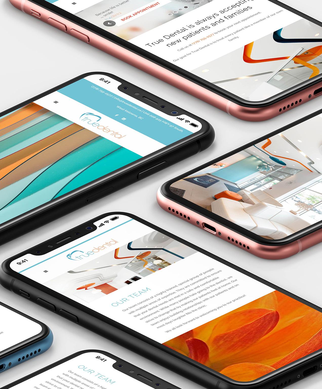 dental marketing true dental social media on phones
