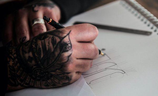 James Martin drawing monogram