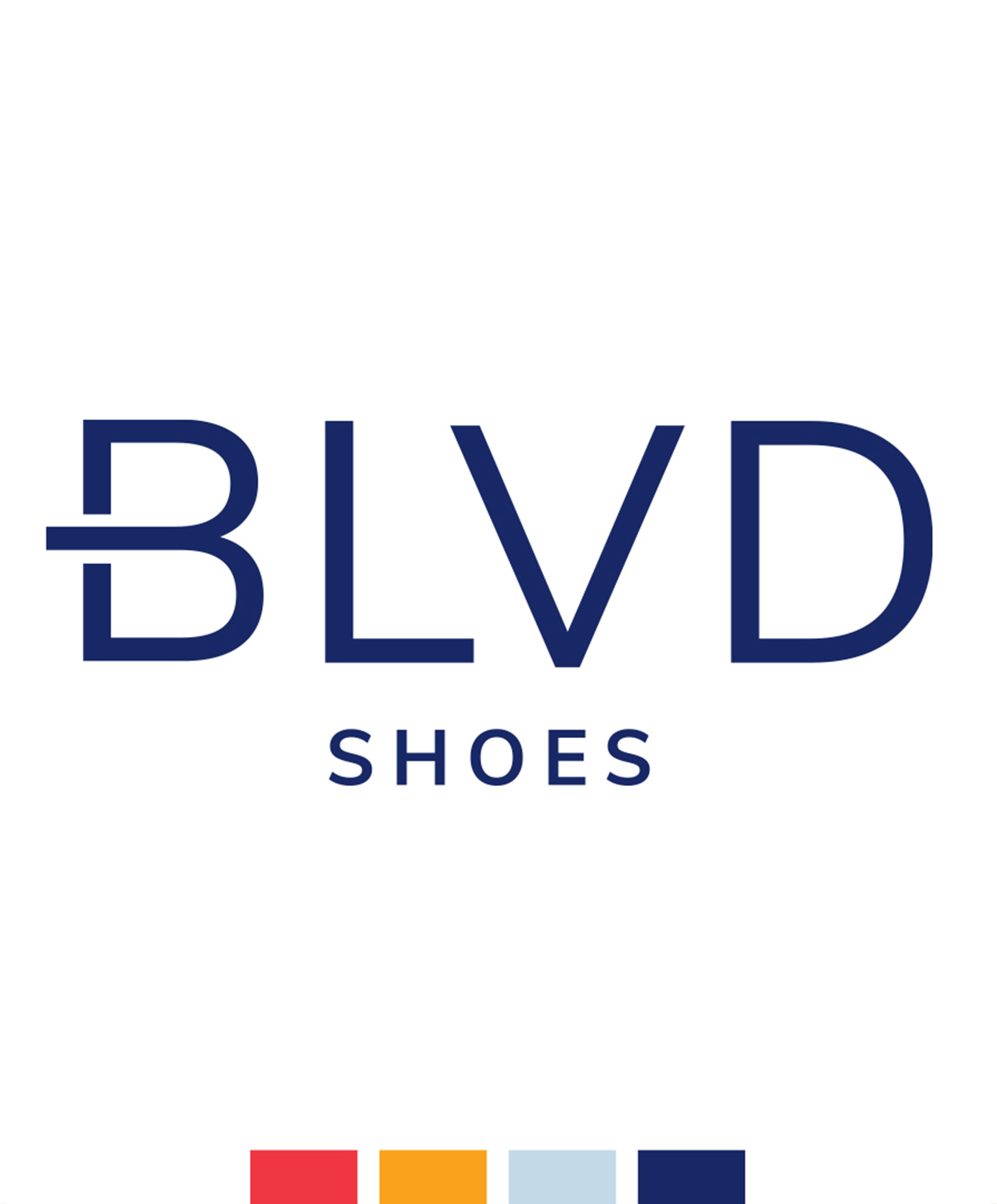 retail shoe store marketing brand logo color palette