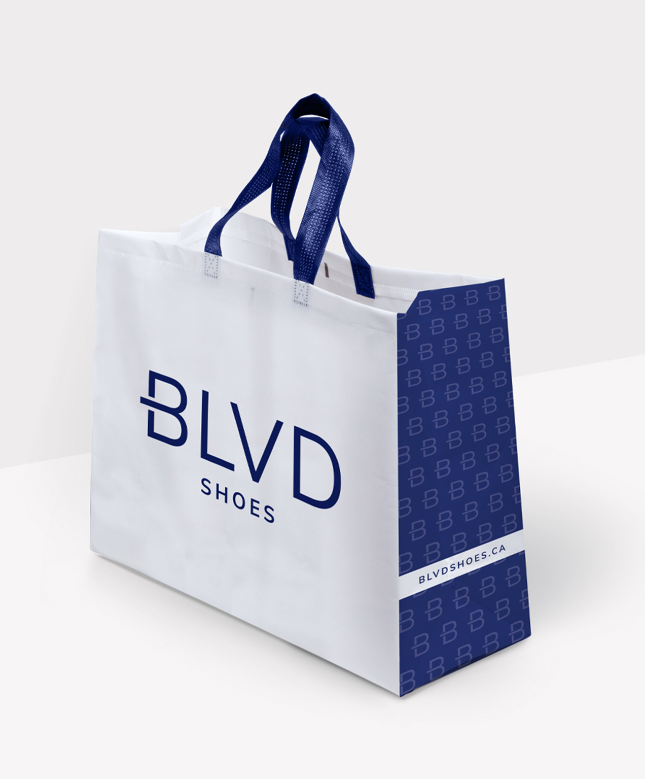 retail shoe store marketing blvd shoes custom shopping bag