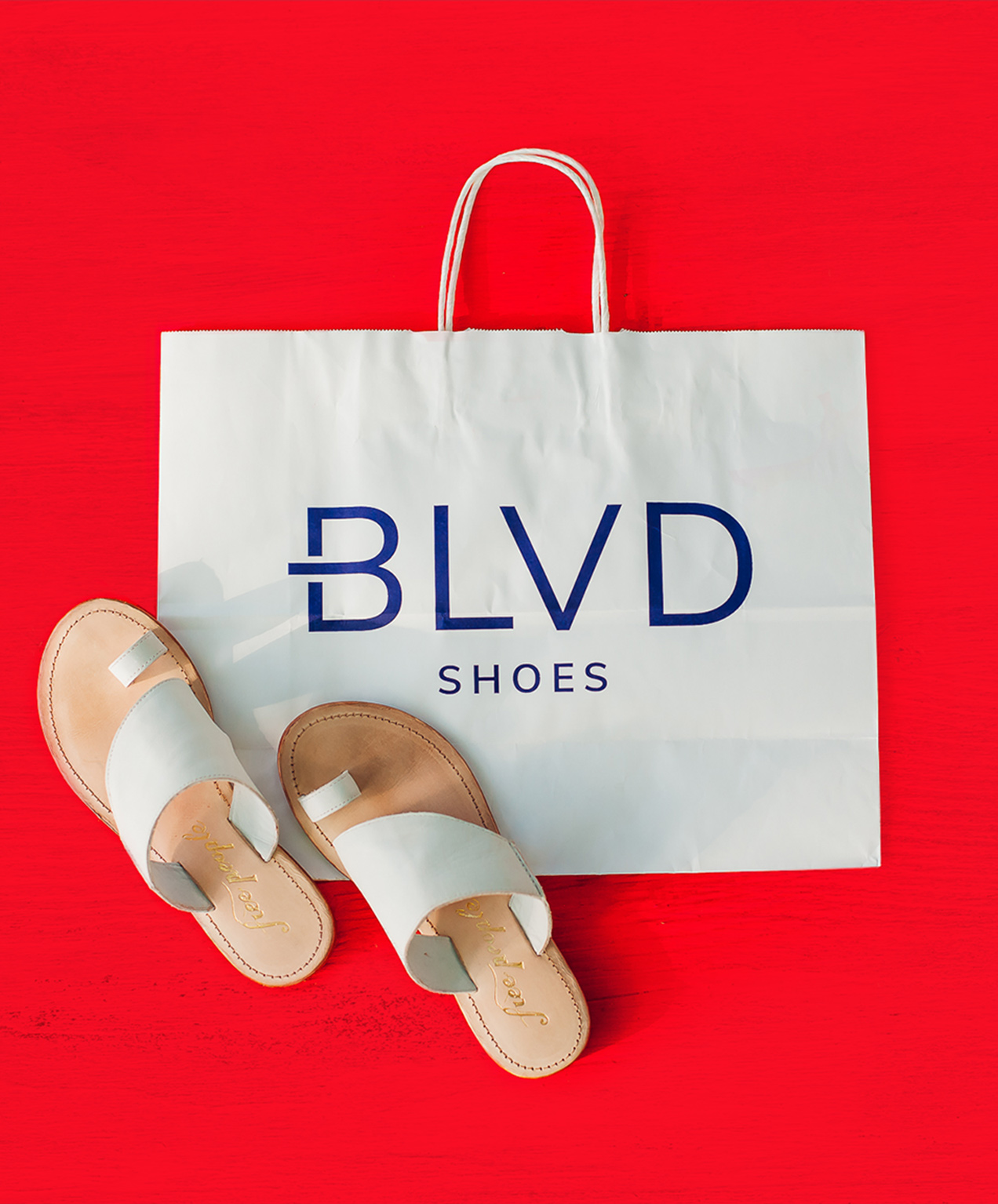 retail shoe store marketing blvd branded bags