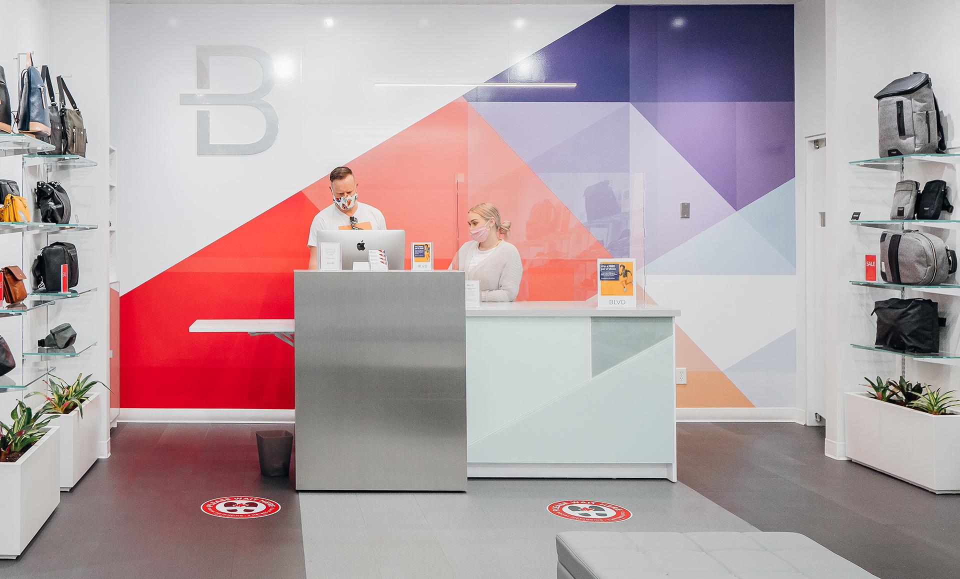 retail shoe store marketing front desk employees