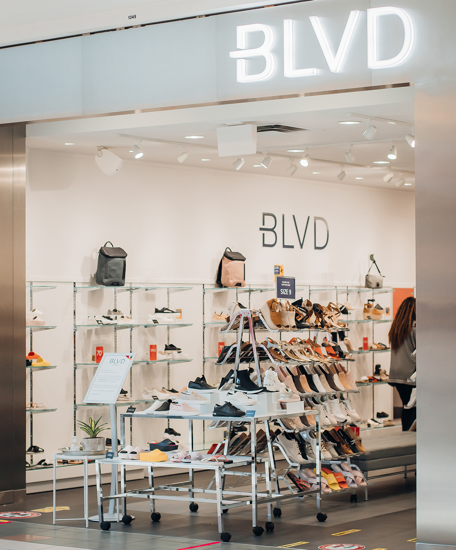 retail shoe store marketing blvd storefront photo