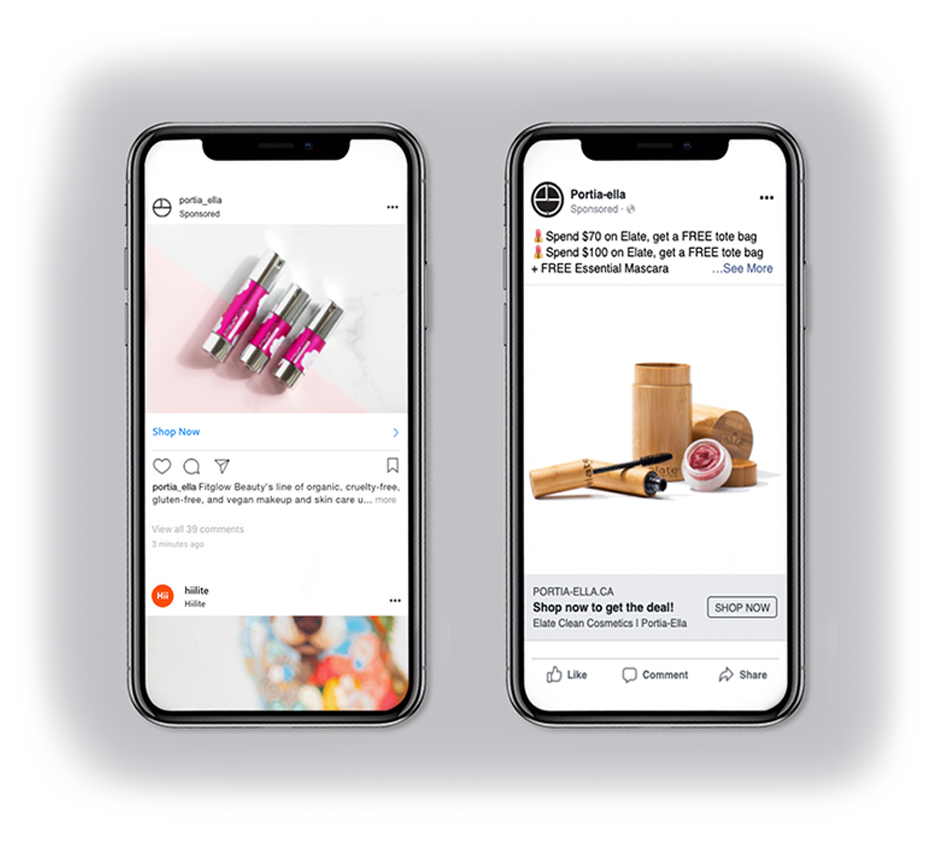 online marketing for ecommerce store social media promotions on mobile