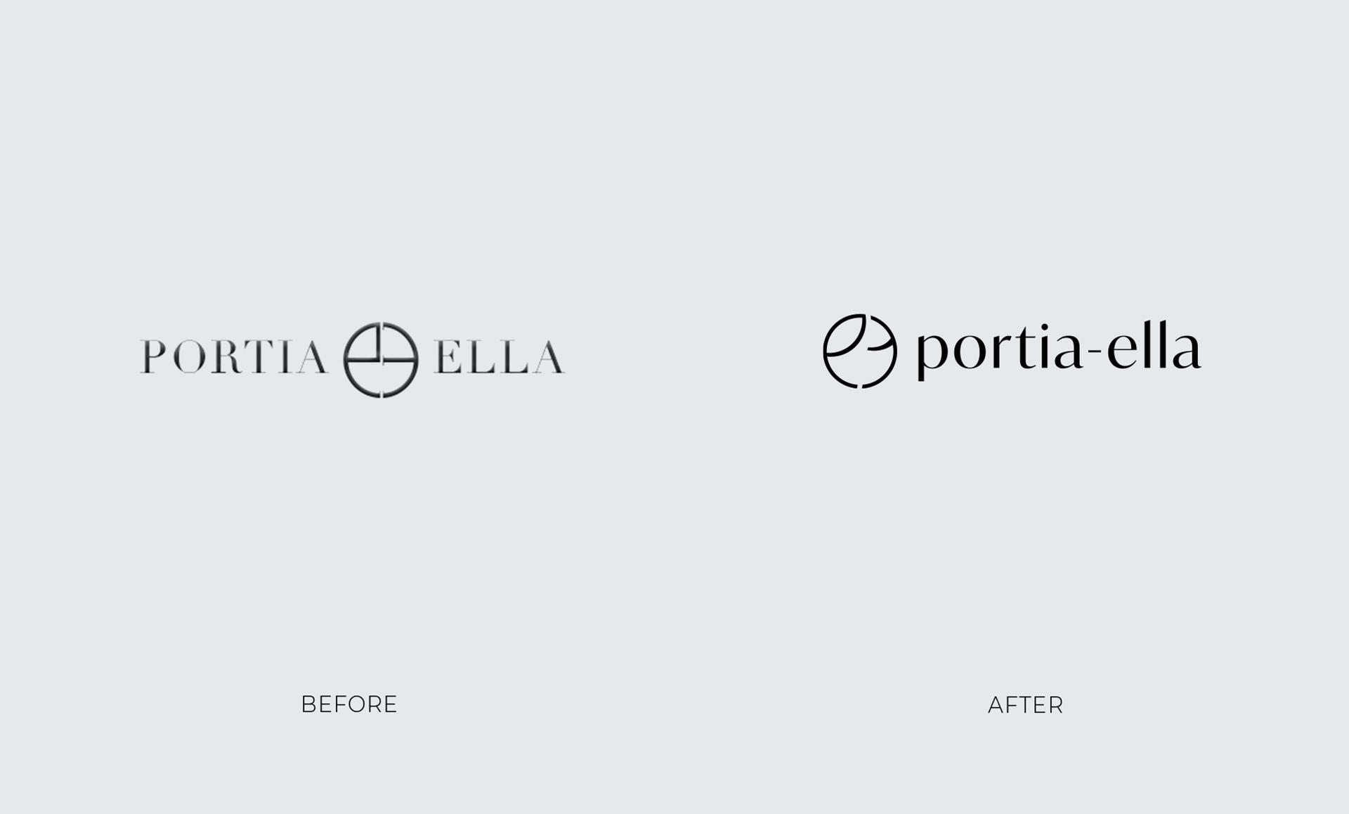 retail marketing portia ella logo redesign