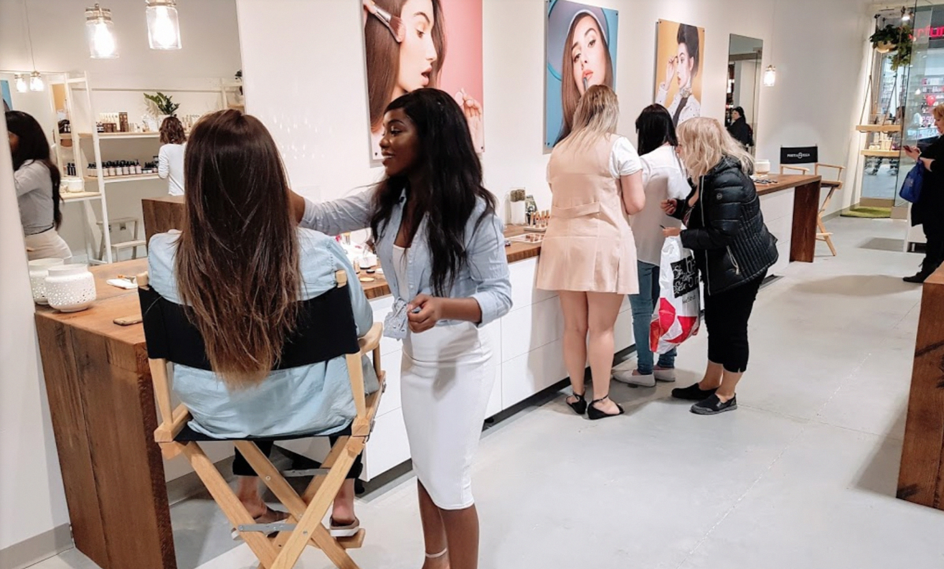 retail and online marketing portia ella in store experience